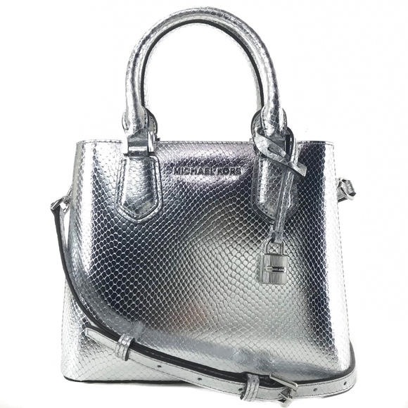 5ec2ea744ce3 MICHAEL KORS Adele Medium Embossed Leather Bag